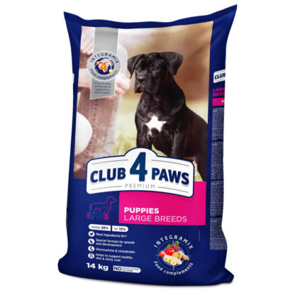 Club 4 Paws Puppies Large Breeds 14 kg