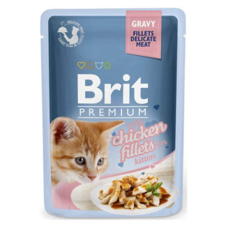 brit kitten fillets 85 kg mały kot