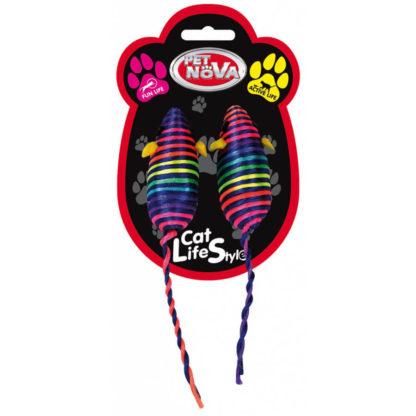 myszki tęczowe kolorowe dla kota